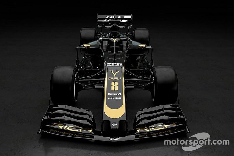 Haas показала машину 2019 года. Она действительно черно-золотая