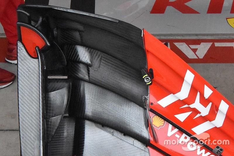 Ferrari: nella parte interna della paratia laterale dell'ala c'è un profilo in più