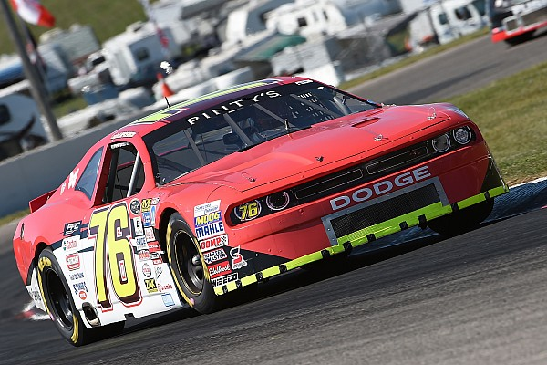 NASCAR Canada Lapcevich scores third win of the season with late move on Kennington