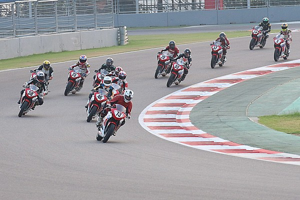 Indian Bike Race report Buddh Honda CBR 250: Sethu, Abhishek share wins
