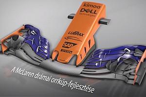 Magyar nyelvű animáción a McLaren drasztikus orrkúp-fejlesztése