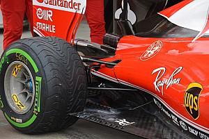 F1 Análisis Técnica: Tomas de freno trasero y deflector del fondo del Ferrari