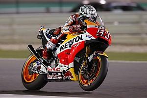 MotoGP Ultime notizie Losail, Warm-Up: Marquez cade, ma svetta. Che ritmo Vinales!