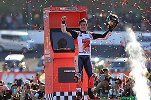 Motegi MotoGP: Marquez secures fifth title, Dovizioso crashes