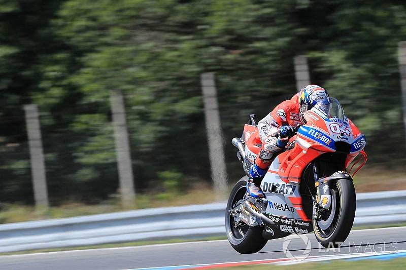Test Brno, Ore 15: Dovizioso si porta in vetta, Iannone cade ed è dolorante ad una spalla