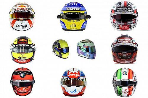 Confira os capacetes dos pilotos da F1 para temporada 2021