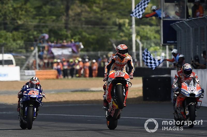 MotoGP Thailand: Duel panas, Marquez taklukkan Dovizioso
