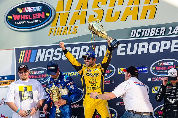 Alon Day celebrates winning Whelen Euro championship