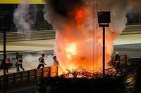F1: Grosjean bate no Bahrein, carro parte ao meio e explode; veja