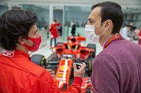 Sainz faz sua estreia no simulador da Ferrari