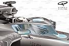Formule 1 overweegt doorzichtig scherm aan boogconstructie toe te voegen