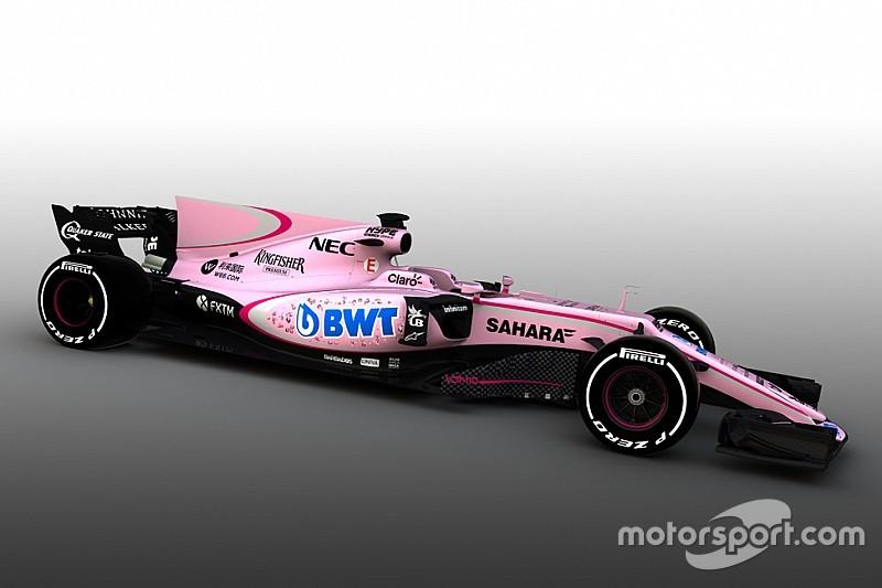 Force India cambia su decoración y se pasa al rosa