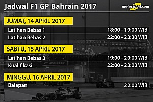 Formula 1 Special feature Jadwal lengkap F1 GP Bahrain 2017