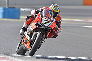 World Superbike Practice report Chaz Davies sets the best time on Friday at Magny-Cours