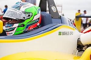 Fórmula 3 Brasil Relato da corrida Vindo de trás, Matheus Iorio derrota Carlos Cunha na chuva