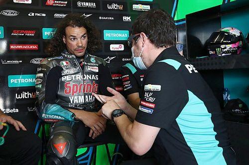 モルビデリ、MotoGPオランダGPの欠場が決定。トレーニング中に左膝の怪我が悪化
