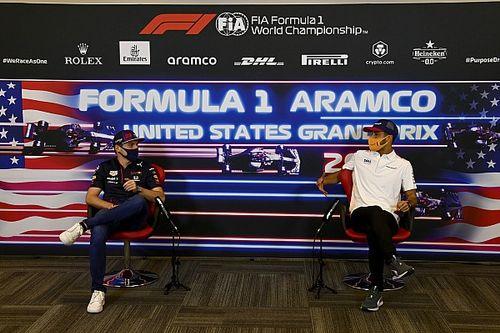 F1-update: Verstappen en Ricciardo dollen als vanouds in Austin