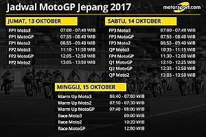 Jadwal lengkap MotoGP Jepang 2017