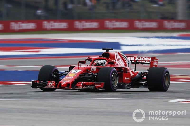 F1 Austin, Libere 3: due Ferrari davanti sull'asciutto. Hamilton è a un soffio