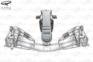 Fórmula 1 Análise Análise técnica: a novidade radical da Mercedes em seu bico