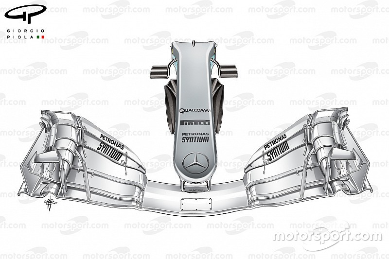 Tech analysis: Mercedes' radical approach to nose upgrades