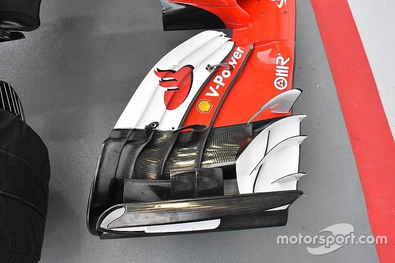 A leszorítóerő nyomában: tökéletes példa a Ferrari első szárnya