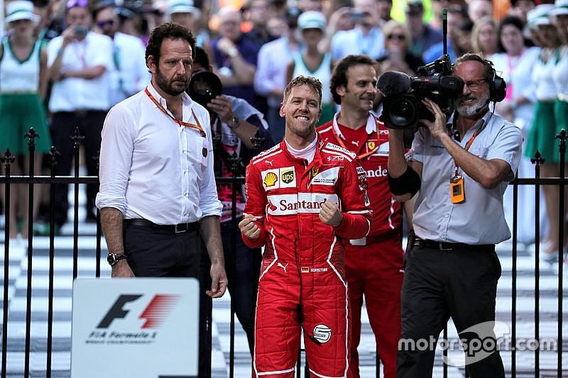 【F1】運も味方にしたベッテル「正真正銘のレースができて楽しかった」