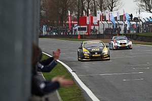 BTCC Race report Brands Hatch BTCC: Goff holds off Turkington to win opener