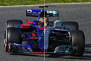 Formula 1 Special feature Komparasi dua mobil F1 2017 di trek: Toro Rosso STR12 vs Mercedes W08