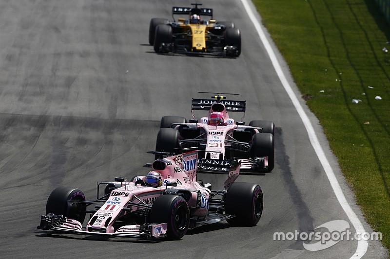 Force India va étudier les règles à fixer pour Pérez et Ocon