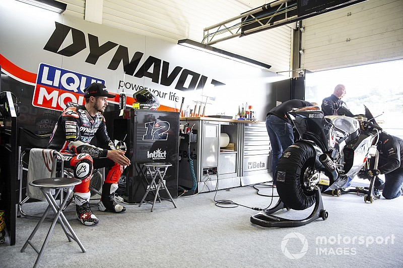 Fotostrecke: der Schweizer Aegerter, Lüthi und Forward Racing im Moto2-Test in Jerez