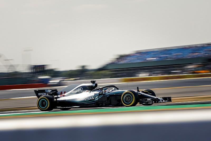 Hamilton arrancó el sábado con lo mejor en Silverstone