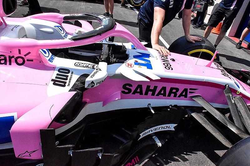 Force India: è apparsa una nuova pinnetta sulla VJM11 di Ocon