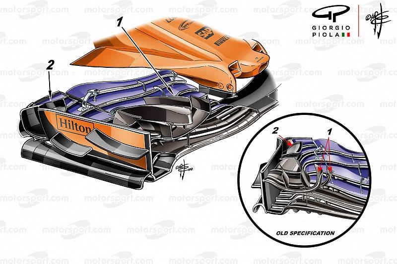 El nuevo alerón que McLaren decidió no usar en Monaco