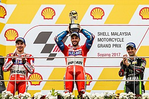 MotoGP Race report Malaysian MotoGP: Dovizioso wins to keep title hopes alive