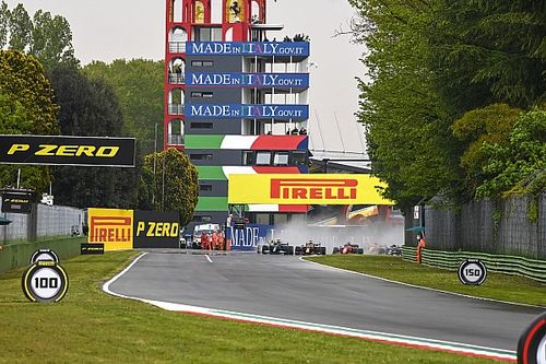 Emilia Romagna GP red-flagged after Bottas/Russell crash