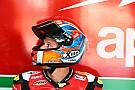 MotoGP Гонщик WSBK Савадори протестирует мотоцикл MotoGP команды Aprilia