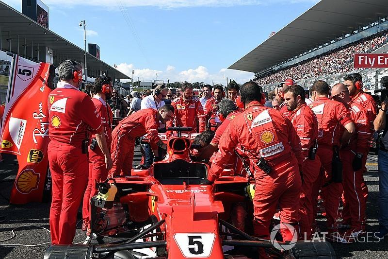 Ferrari ran out of time to change Vettel spark plug