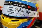 Alonso da varias pistas de cómo será su nuevo casco