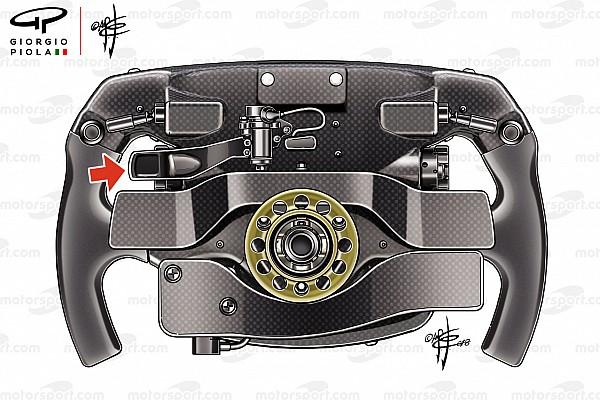 Formule 1 Analyse La mystérieuse troisième palette du volant Ferrari de Vettel
