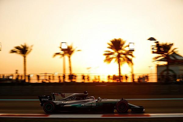 Formel 1 Nur vom Eisschrank abzukühlen: Hamilton brennt in Abu Dhabi
