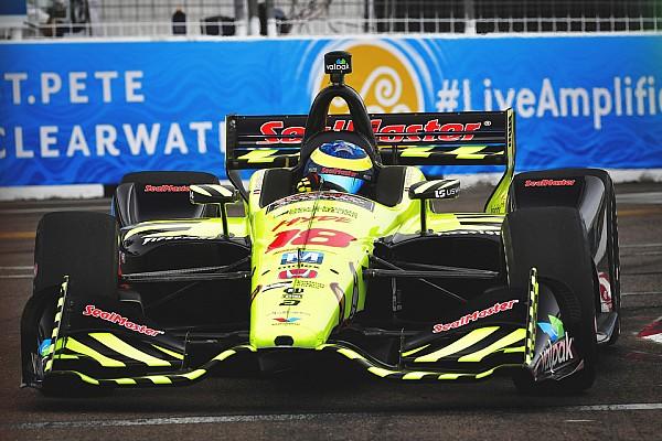 IndyCar Репортаж з гонки Бурде виграв ГП Сент-Пітерсберга, лідери зіштовхнулися наприкінці гонки