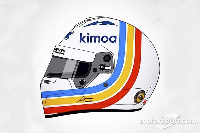 アロンソ、デイトナ24時間用のスペシャルヘルメットのデザインを公開