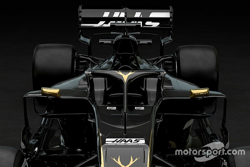 Slide view: Compare the Haas VF-19 versus 2018 car