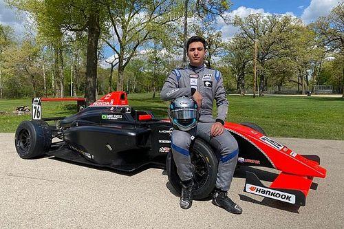 Gabriel Fonseca disputa etapa de Road America da Fórmula 4 US em busca do primeiro pódio na competição