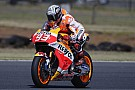 Marquez leads crash-marred final day