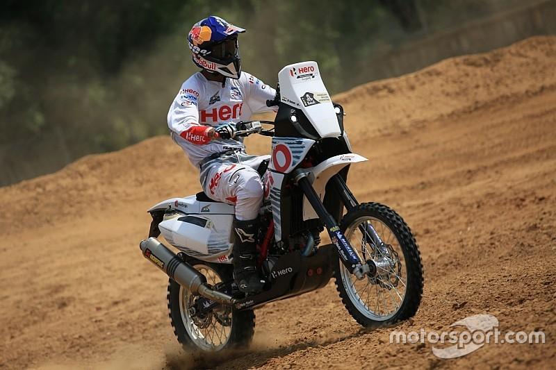 Hero demonstrates Dakar bike in India