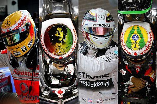 Photos - Les casques de Lewis Hamilton depuis 2007