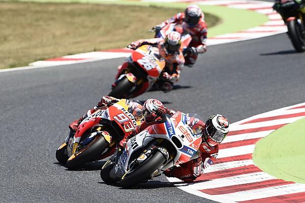 MotoGP Lorenzo baalt van agressieve actie Marquez in Catalonië