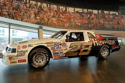 Davey Allison's rookie car put on display at the NASCAR Hall of Fame